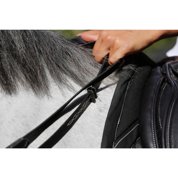 Rênes allemandes cuir et corde équitation cheval ROMEO - 456036