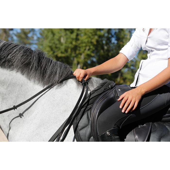 Rênes allemandes cuir et corde équitation cheval ROMEO - 456037