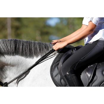 Rênes allemandes cuir et corde équitation cheval ROMEO - 456038