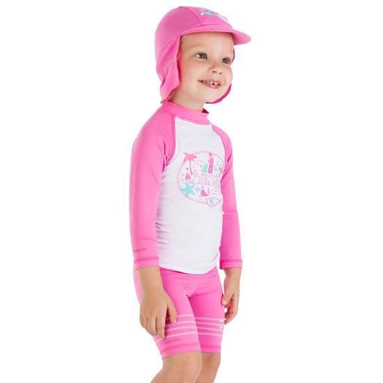 Uv-werende set van pet, kuitbroek en shirt voor peuters Surf - 456071