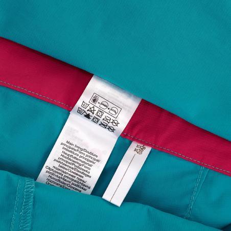 Forclaz 500 Girls' Modulpant Caribbean Blue