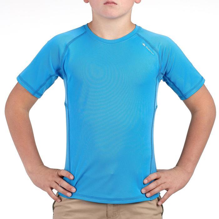 Jongens T-shirt voor wandelen Hike 100 blauw