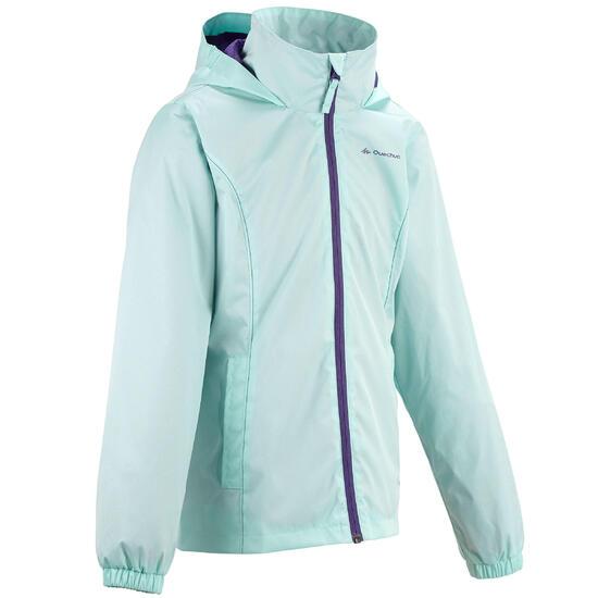 Regenjas voor trekking meisjes Hike 500 - 457384