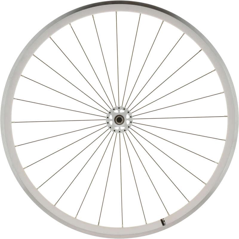 Kerekek trekking- és városi kerékpárokhoz Kerékpározás - FIXIE 700 fehér első kerék ELOPS - Alkatrész, tárolás, karbantartás