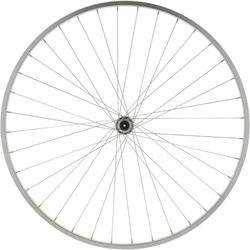 "ROUE VTC 28"" AVANT SIMPLE PAROI GRISE V-BRAKE SERRAGE QUICK AND RELEASE"
