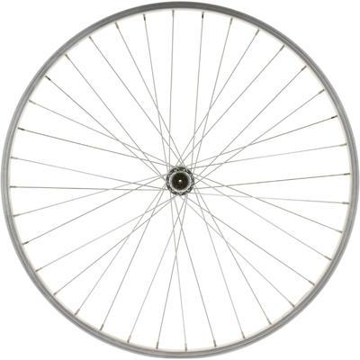 """Wheel 26"""" Front Single-Wall Rim Brake Pads Mountain Bike - Silver"""
