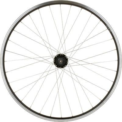 """גלגל אחורי 26"""" לאופני הרים עם בלם דיסק/V - שחור"""