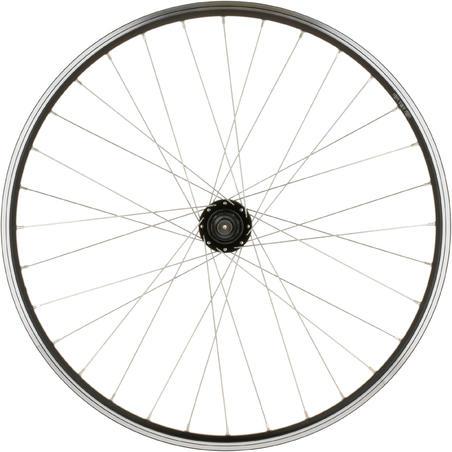 """Заднє колесо д/гірського велосипеда 26"""" з дисковими гальмами чи V-Brake - Чорне"""