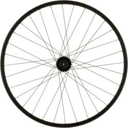 "Ruota anteriore bici trekking 28"" doppia parete freni a disco nera"