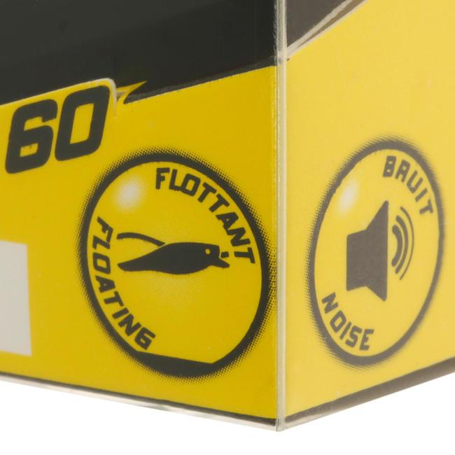 BULLER 60 ROACH Popper Floating Plug Bait