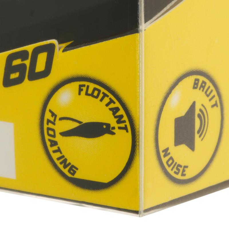 Pez nadador flotante popper BULLER 60 ROACH