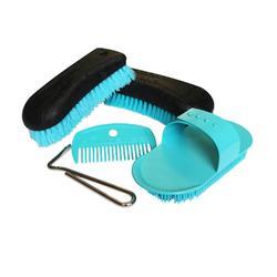 Kit de limpieza adulto SCHOOLING 5 piezas azul