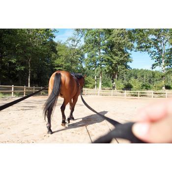 Longues rênes équitation noir