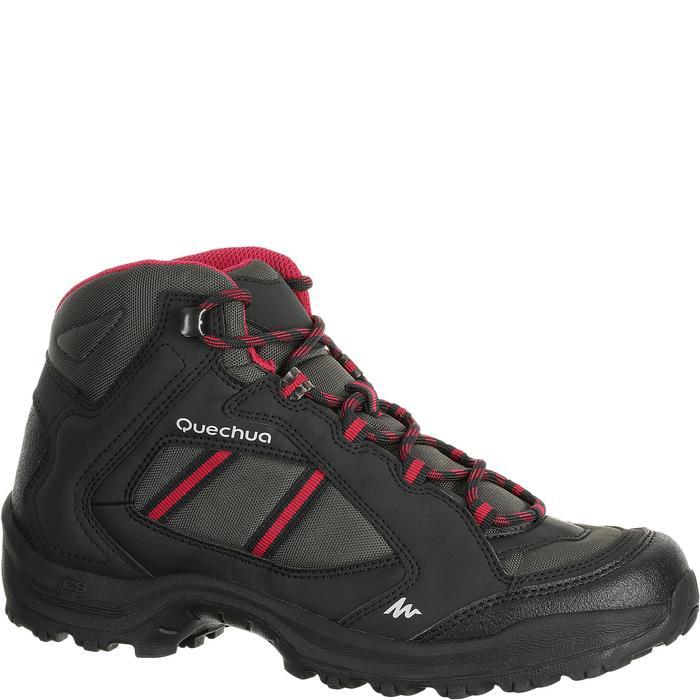 Chaussures de randonnée Nature femme Arpenaz 50 MID L noir rose. - 458587