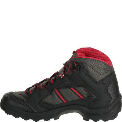 حذاء Arpenaz 50 Mid للسيدات للتنزه - أسود/وردي.