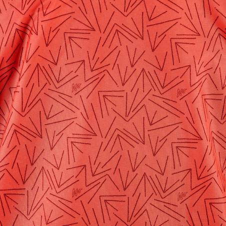 Regenjacke Rain-Cut Zip Kinder Print, korallrot