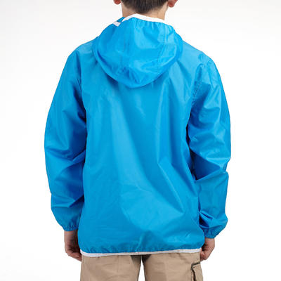 HIKE 100 CHILDREN'S HIKING JACKET - BLUE