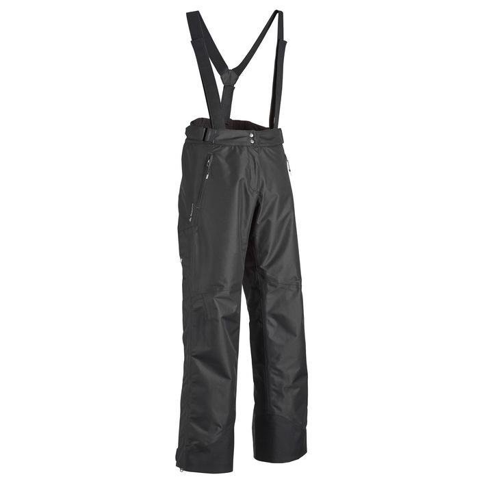 Sobrepantalón de lluvia impermeable de senderismo montaña MH 500 Mujer Negro