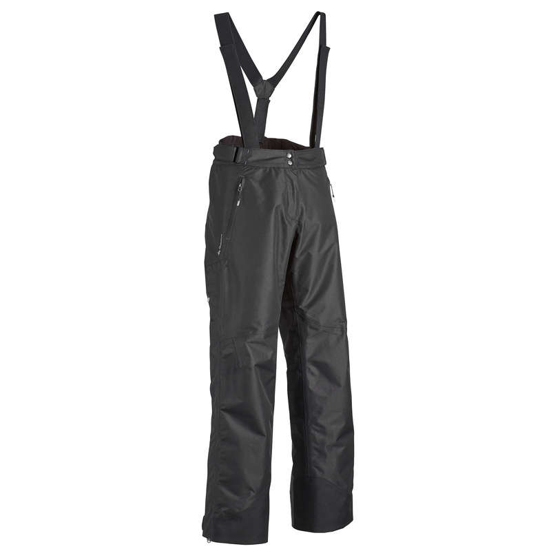 WOMEN MOUNTAIN HIKING JACKETS - MH500 WTP W Trousers - Black QUECHUA