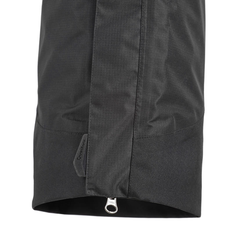 Women's Hiking Rain Pants Forclaz100 (Over Trousers) - Black
