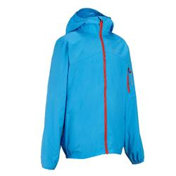 Hike 100 Children's Windbreaker Hiking Jacket - Blue