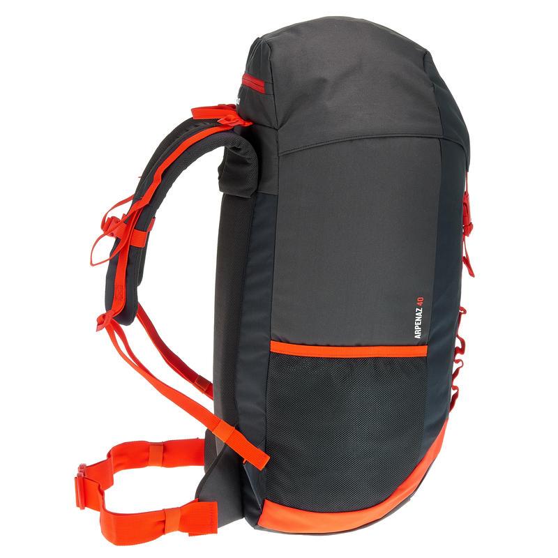 Mochila ARPENAZ 40 litros Negro/Naranja