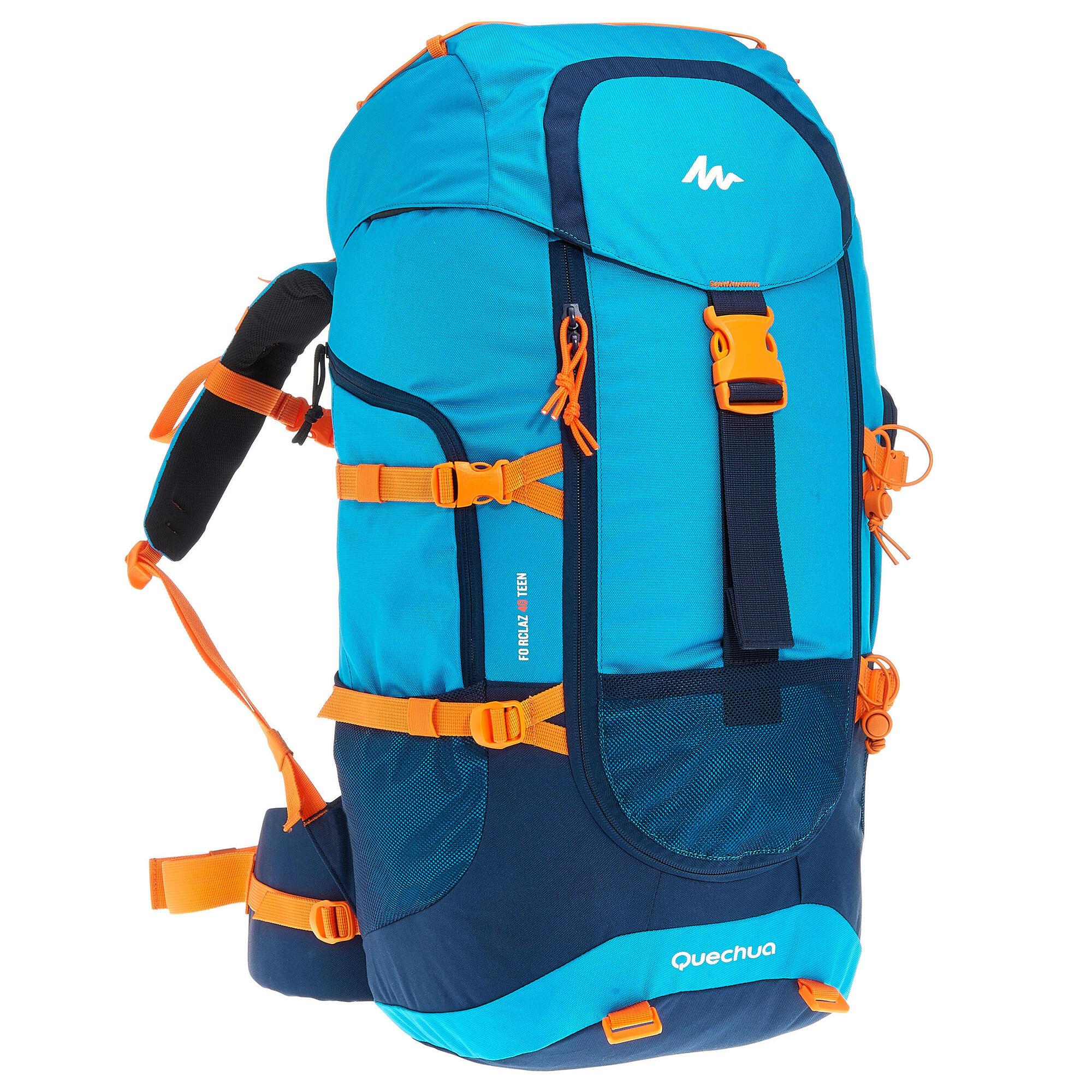 forclaz 40 l junior hiking backpack blue quechua. Black Bedroom Furniture Sets. Home Design Ideas