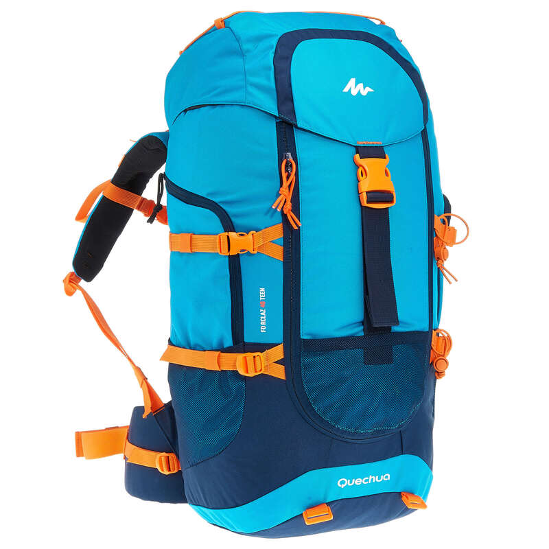 ZAINI E BASTONCINI BAMBINI Sport di Montagna - Zaino montagna junior FORCLAZ 40 azzurro QUECHUA - Trekking bambino
