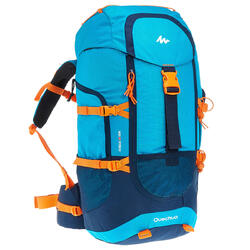 40L 青少年健行運動背包 Forclaz - 藍色