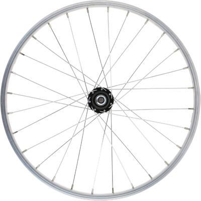 """Kids Wheel 20"""" Rear Single Wall Rim Freewheel - Silver"""