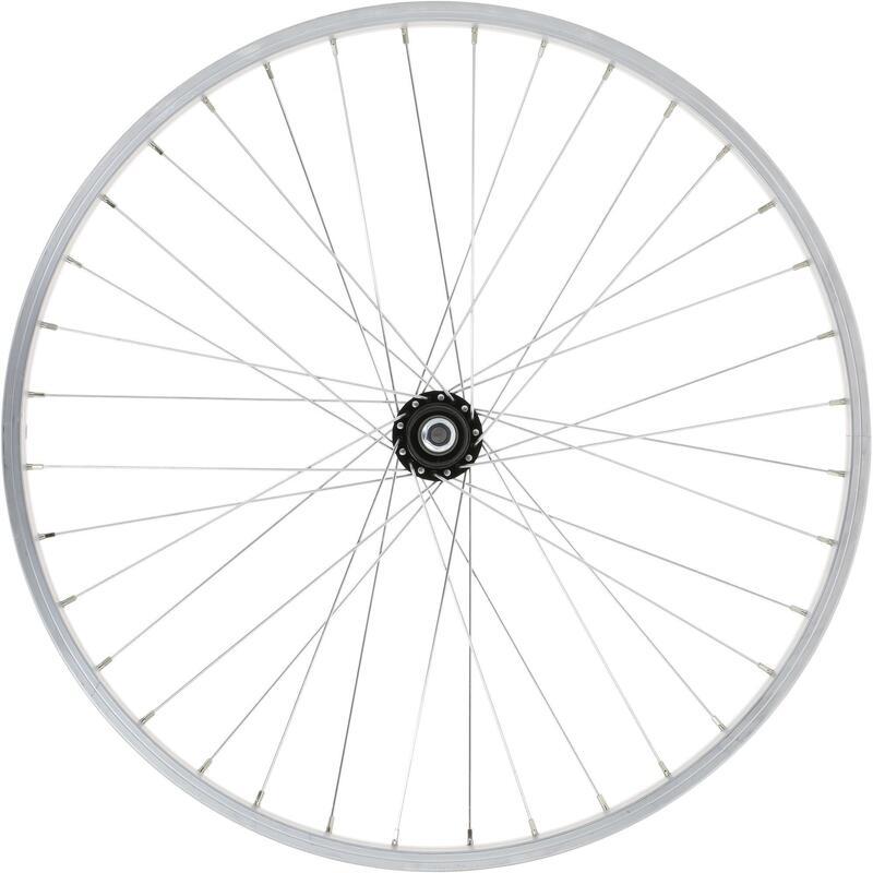 Roue vélo enfant 24 pouces arrière simple paroi roue libre argent