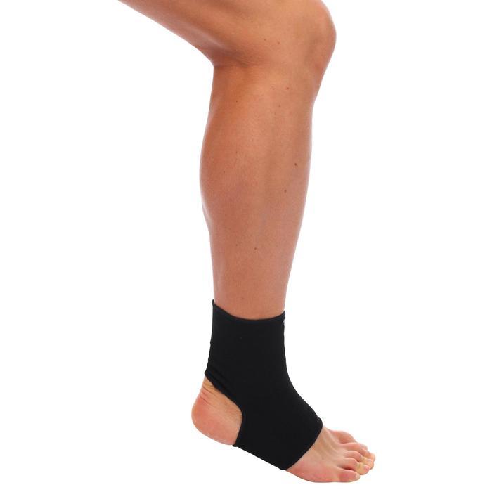 Knöchelbandage Soft 100 links/rechts Kompression Erwachsene schwarz