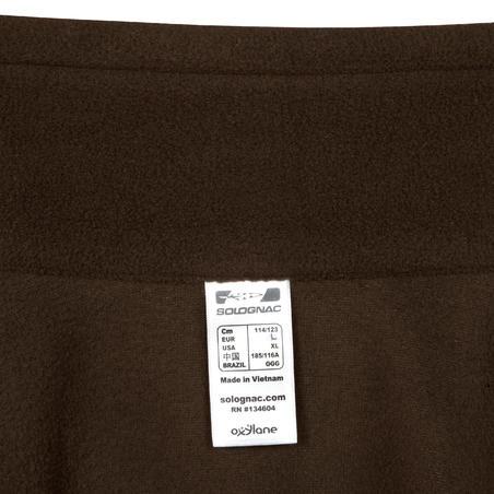 Hunting Fleece Sweater 100 - Brown