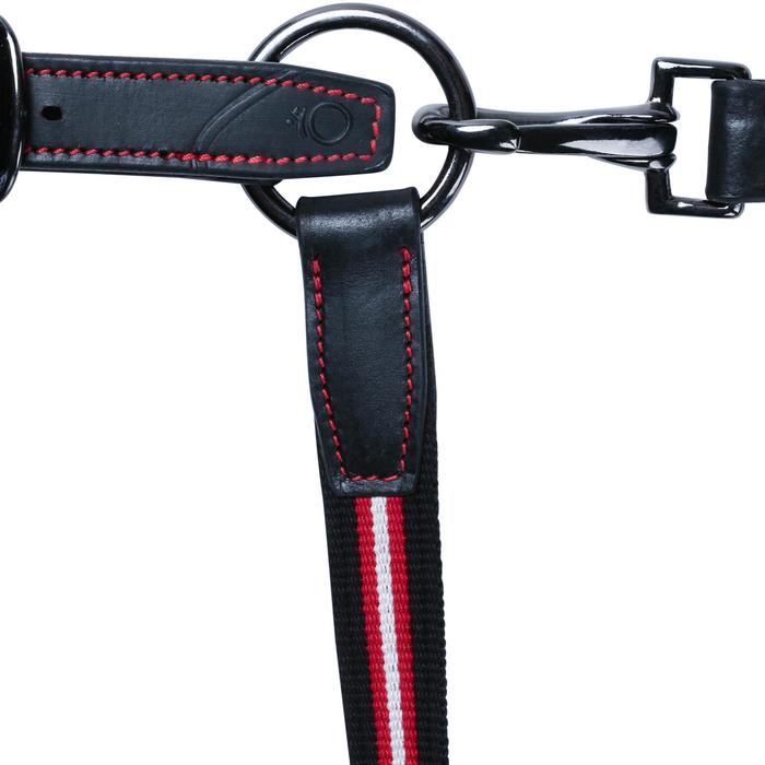 Cabestro equitación poni y caballo PERFORMER negro y rojo