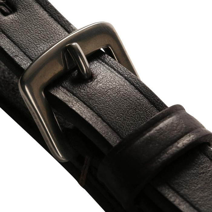Rênes allemandes cuir et corde équitation cheval ROMEO - 462290
