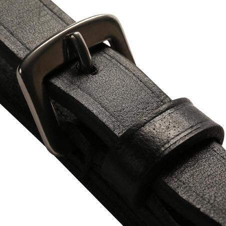 Romeo Horseback Riding Leather and Rope Running Reins - Black