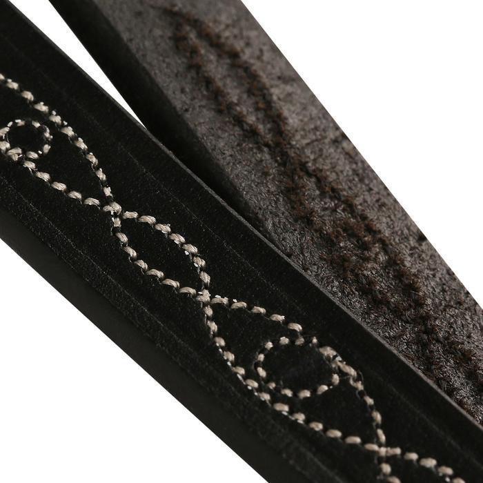 Rênes allemandes cuir et corde équitation cheval ROMEO - 462306