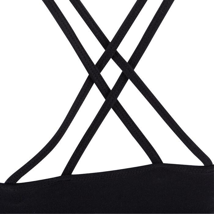 Brassière de danse à fines bretelles croisées dans le dos fille noire