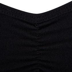 Zwart danstopje met dunne schouderbandjes voor meisjes. - 463415