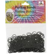Črne gumice za pletenje kitk za konje