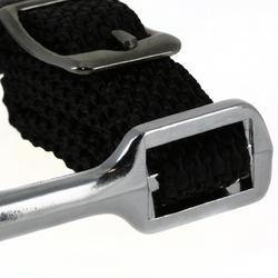 Sporen met vierkant uiteinde + riempjes voor dames - 20 mm
