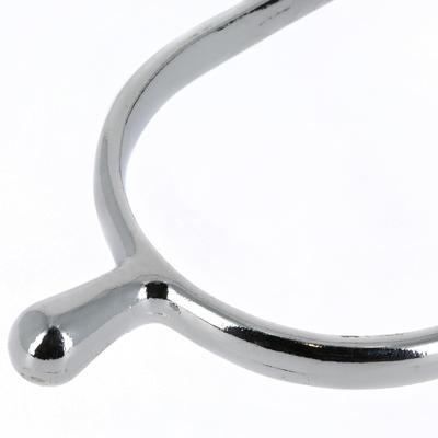 Espuelas punta redonda + correas 20 mm x 2 equitación hombre