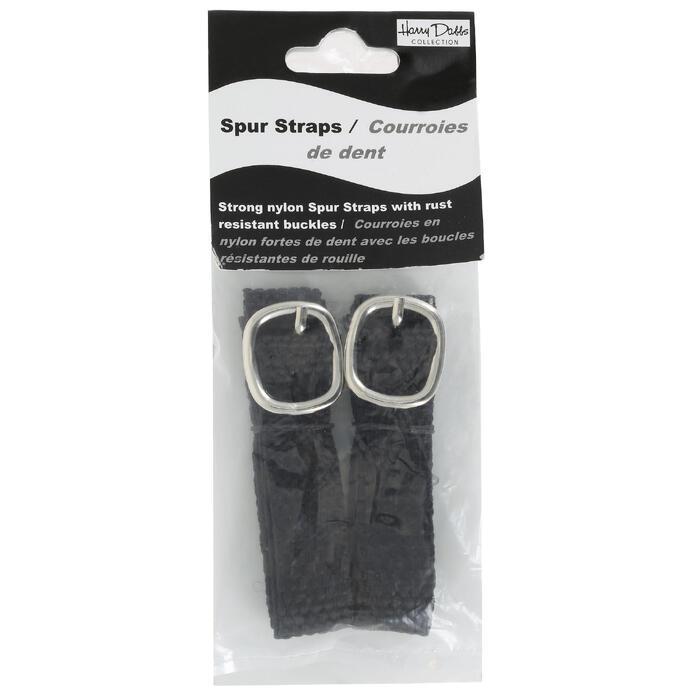 Gevlochten spoorriempjes ruitersport zwart