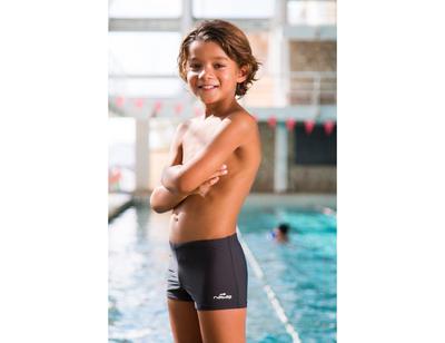 شورت بوكسر لسباحة الأولاد B-Active Tony - رمادي