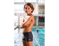 Zwemboxer jongens B-Active Tony grijs - 46382