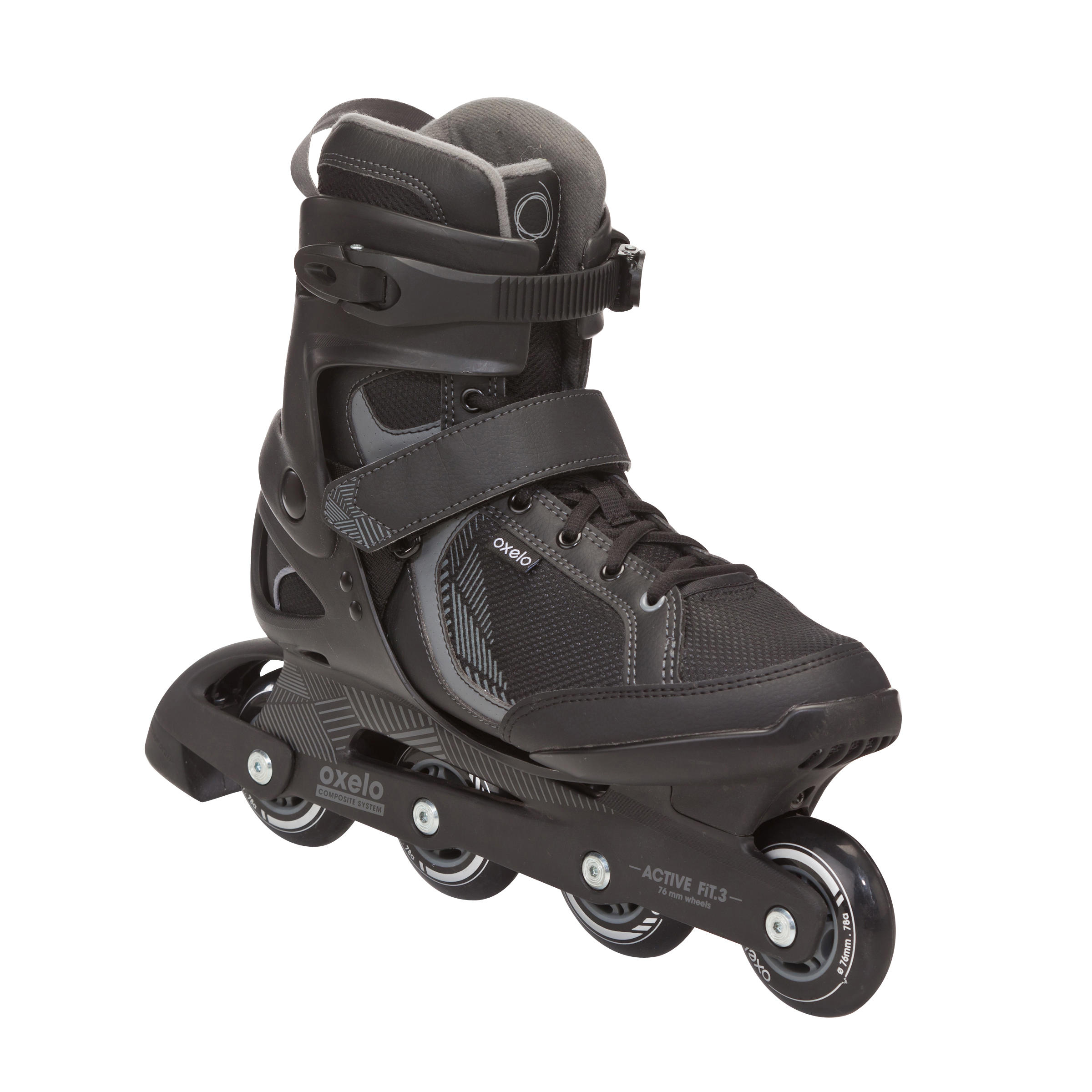 Fit 3 Men's Inline Fitness Skates - Black/Grey
