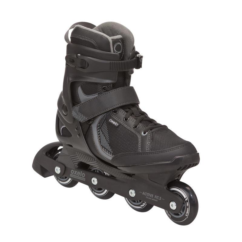 Patins à roues alignées hommes FIT 3 noir gris