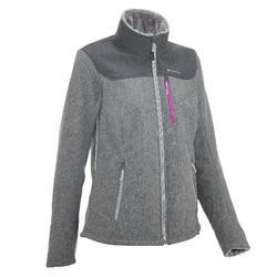 Dames softshell jas voor trekking Windwarm 300