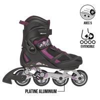 PLAY 7 junior fitness inline skates - BLACK FUCHSIA