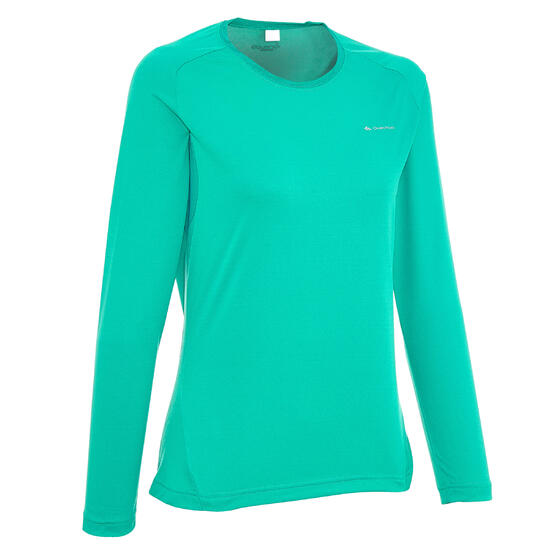 T-shirt lange mouwen trekking Techfresh 50 dames - 46713